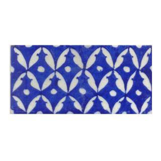 White leaves with Blue tile