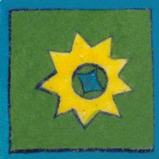 green tile with yellow star