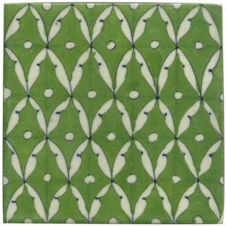 White leaves and Green tile