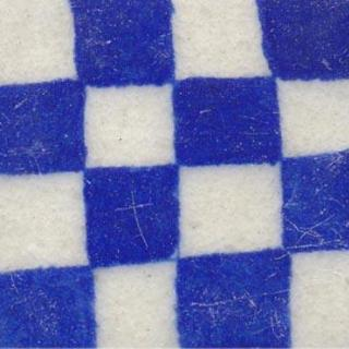 blue and white checker board design