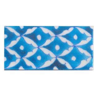A nice white pattern on sky blue tile (2x4-BPT05)