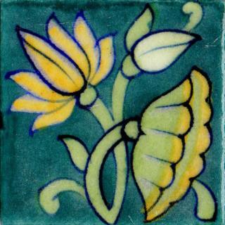lotus Flowers Design Tile