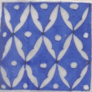 White and Blue Tile
