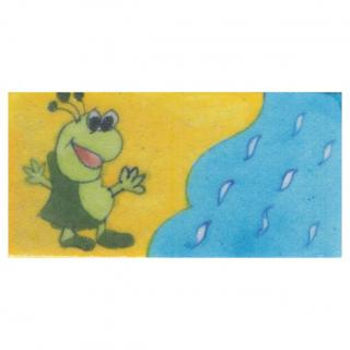 Green and Lime Green Cartoon with Yellow and Turquoise Base Tile