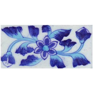 White Tiles With Blue Flowers