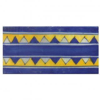 Blue and Yellow Zig-Zag Tile