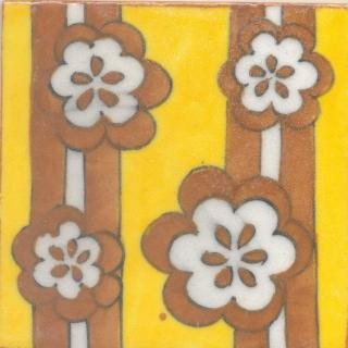 Brown and Yellow Tile