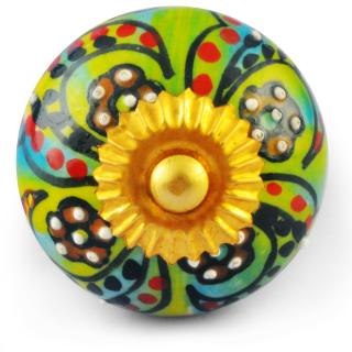 Multicolour Knob with white dots