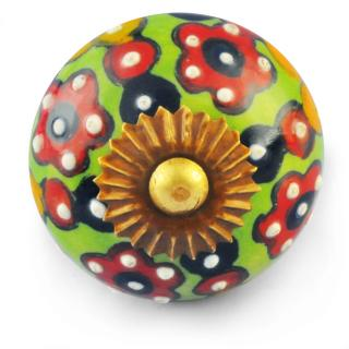 Multicolour Knob with white dots