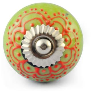Orange Colour design Embossed with Light Green and White knob