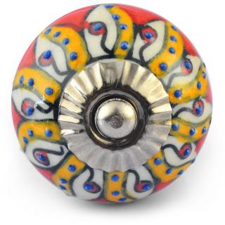 Multicolour Colour Ceramic Knob