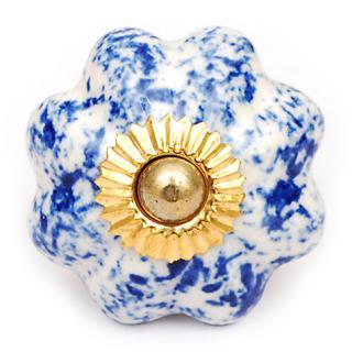 KPS-4550 Blue Floral Design Cabinet Knob