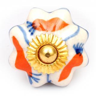 KPS-4556 - Orange design and white knob