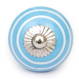 KPS-4601 - Turquoise and White Colored knob