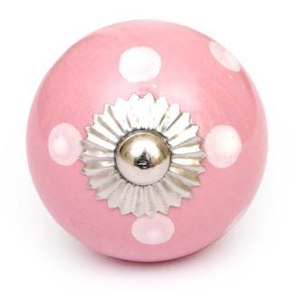 KPS-4602 - Pind knob and White polka-dots knob