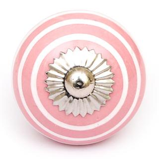 KPS-4603 - Pink and White Colored knob