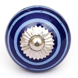 KPS-4608 - White and Blue Round knob