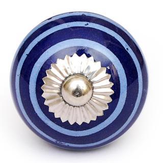 KPS-4608 - White and Blue Round knob