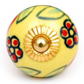 KPS-4620 - Red flower's and Lime green knob