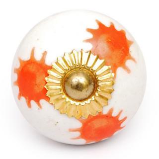 KPS-4641 - Orange sun with White base knob