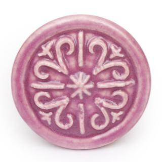 KPS-4669 - Pink Round Ceramic knob