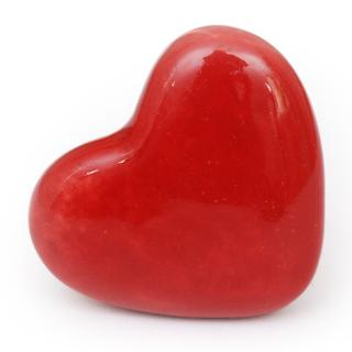 KPS-4670 - Red Heart Ceramic knob