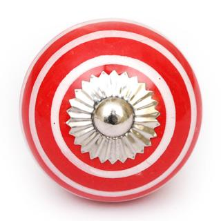 KPS-4680 Red and White Ceramic knob