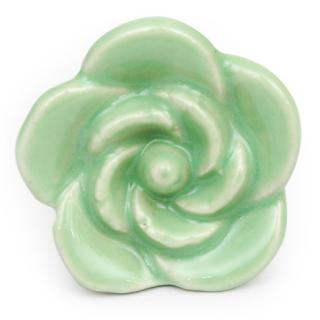 KPS-4686 - Green Flower Shaped Ceramic Cabinet Knob