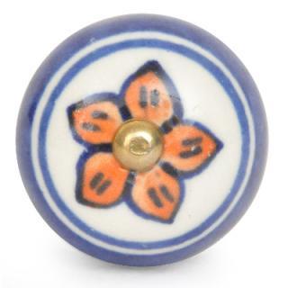 KPS-9034-Blue and Orange Color Ceramic Knob