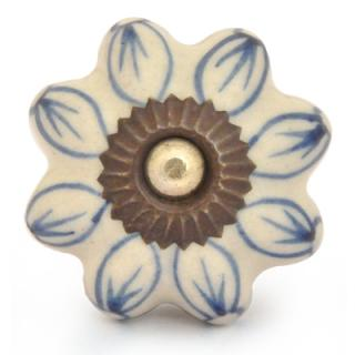KPS-9037-Blue Outline design Ceramic knob
