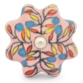 KPS-9056-Yellow,Orange and Blue with Pink Ceramic knob