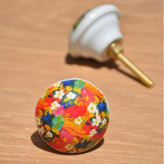 Painting design White Resin knob
