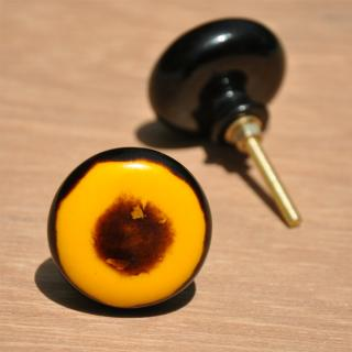 Yellow and Brown Color Resin knob