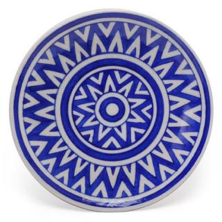 Blue Color design Plate 8''