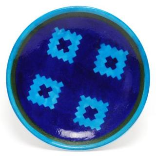 Turquoise and Blue Color design Plate 6""