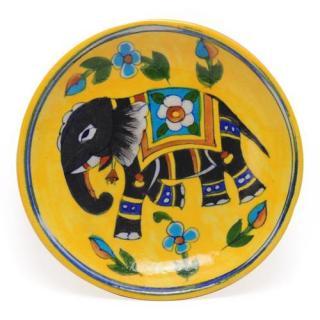 """Elephant design Plate 6"""""""