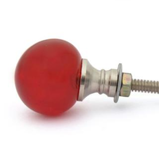 BPGK-105-Red Glass Magic Crystal Ball Style Knob